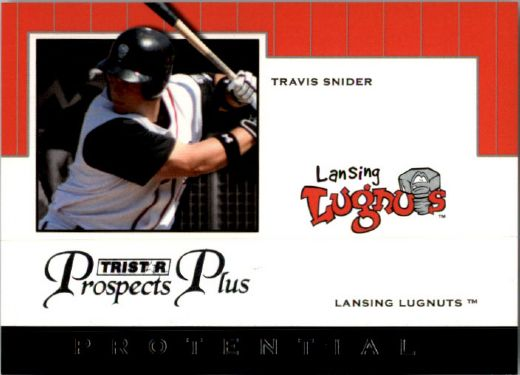 2007 TRAVIS SNIDER TriStar Prospects Plus Rookie PROTENTIAL RC