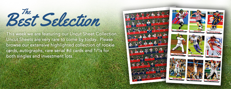 Certified Autographs is Featuring Uncut Sheet Collection