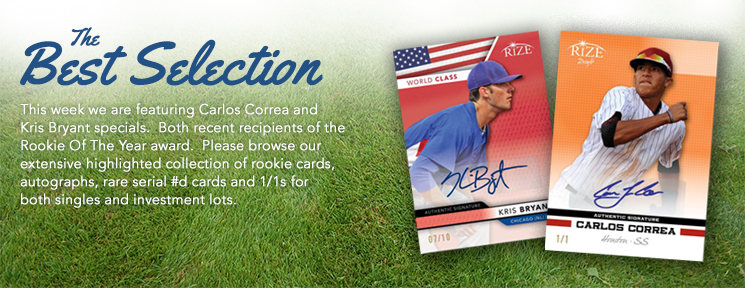 Certified Autographs is Featuring Carlos Correa and Kris Bryant